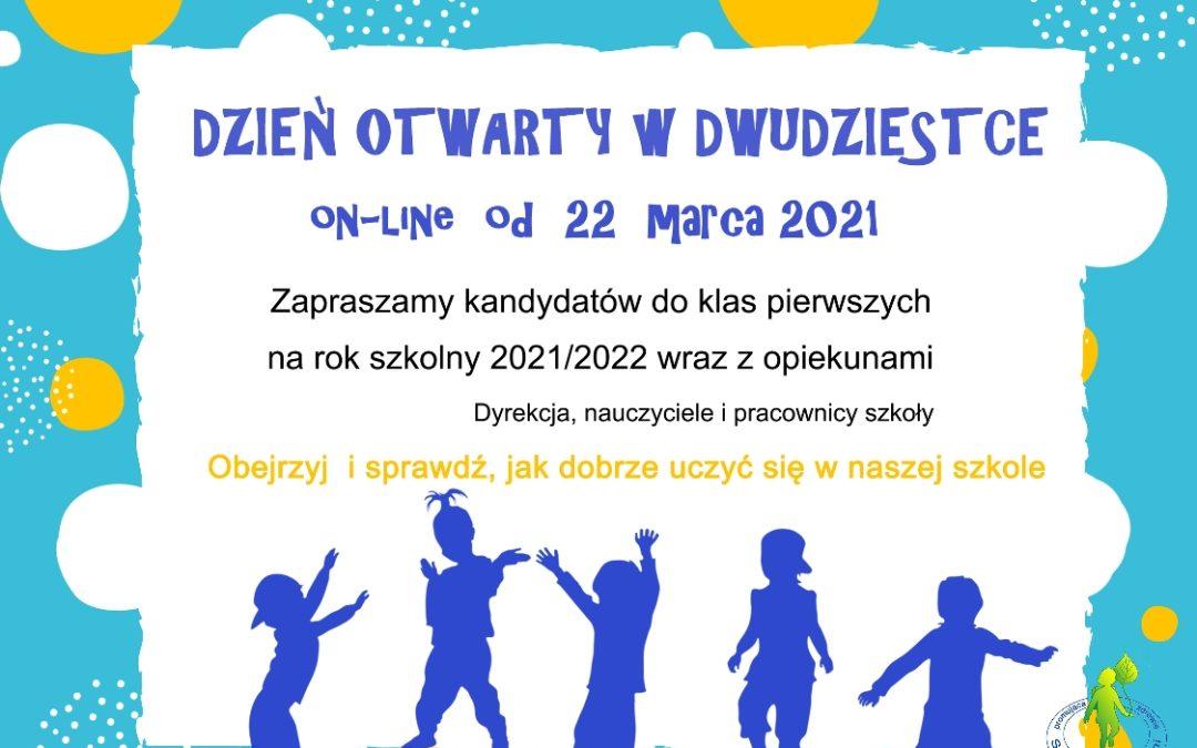 Plakat - Dzień otwarty SP20 w Gdyni